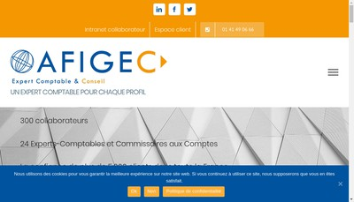 Site internet de Afigec