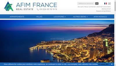 Site internet de Afim France