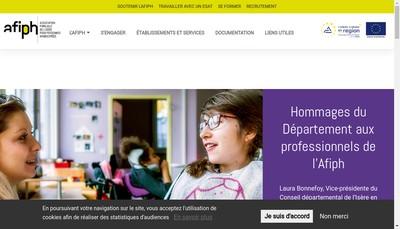 Site internet de Association Familiale de l'Isere pour Personnes Handicapees