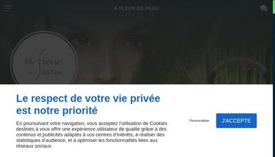 Site internet de A Fleurs de Peau
