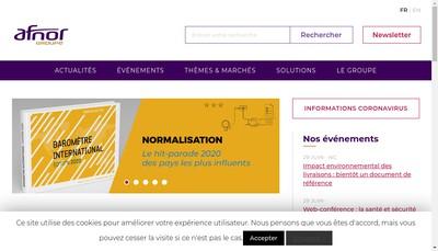 Site internet de Afnor Competences