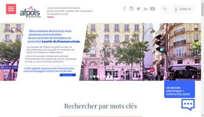Site internet de AFPOLS