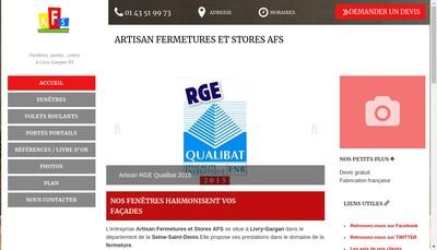 Site internet de AFS Fenetre