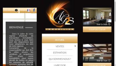 Site internet de Ag2S Immobilier