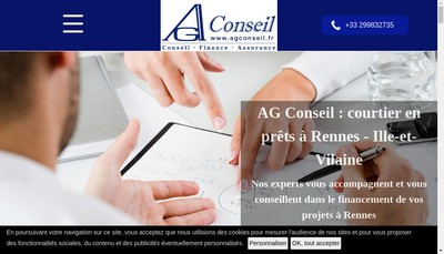 Site internet de Ag Conseil - Gael Antoszewski