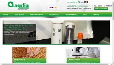 Site internet de Agdia Emea