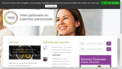 Site internet de Ageas Patrimoine