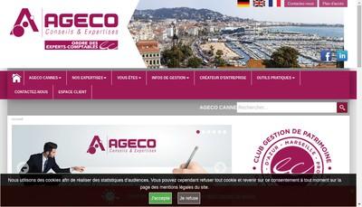 Site internet de Ageco Cannes
