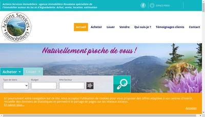 Site internet de Actions Services Immobiliers