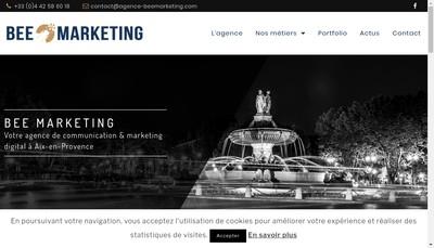Site internet de Bee Marketing