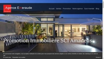 Site internet de Agence Emeraude