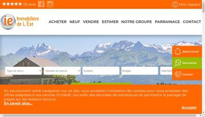 Site internet de L'Immobiliere Albertville Tarentaise