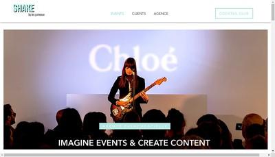 Site internet de Agence Shake
