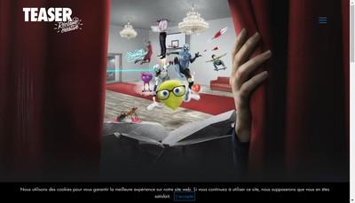 Site internet de Agence Teaser