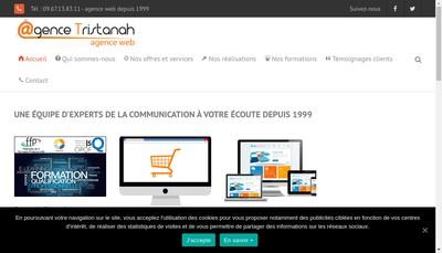 Site internet de SARL Agence Tristanah