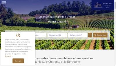 Site internet de Agence 2000