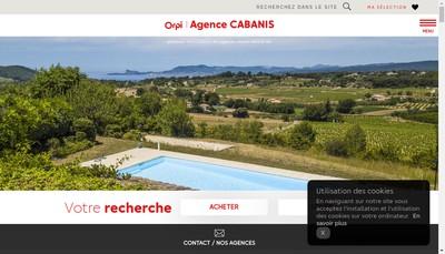 Site internet de Agence Cabanis