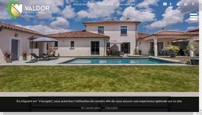 Site internet de Valdor l'Agence Immobiliere