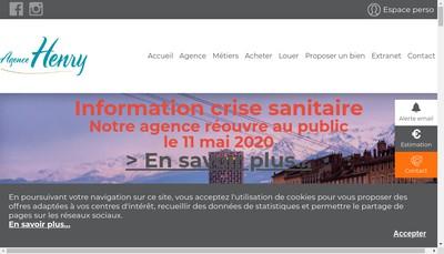 Site internet de Agence Henry