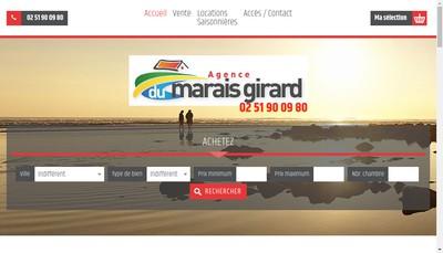 Site internet de Agence du Marais Girard