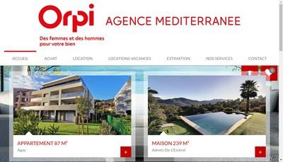 Site internet de Agence Mediterranee