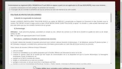Site internet de L'Agence Particuliere