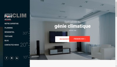 Site internet de Agence Point Clim