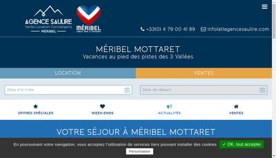 Site internet de Agence la Saulire