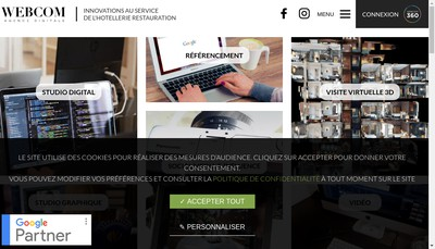 Site internet de Webcom 360