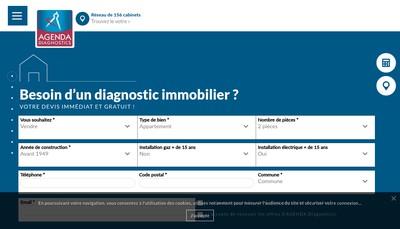 Site internet de Agenda Expertises - Agenda Expertise Reseau - Agenda Diagnostics - Agenda Devis - Agenda Diag - Agen