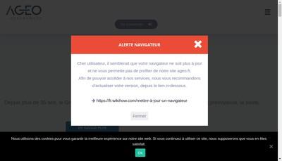 Site internet de Ageo Risks Conseil Nord
