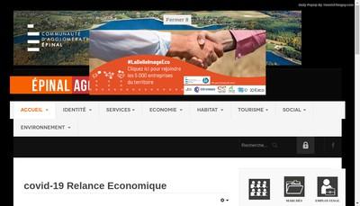 Site internet de Sem de Developpement Economique et d'Amenagement d'Epinal-Golbey et de SA Region