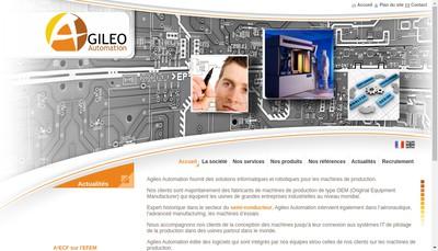 Site internet de Agileo Automation