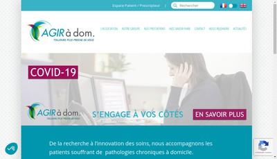 Site internet de Agir a Dom Holding