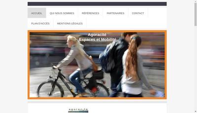 Site internet de Agoracite Espaces & Mobilite