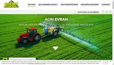 Site internet de Agri Evran