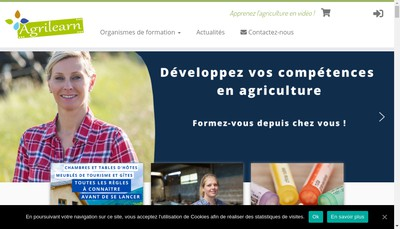 Site internet de SARL Agri-Learn Editions