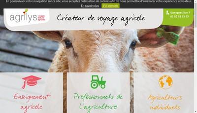 Site internet de Agrilys Voyages