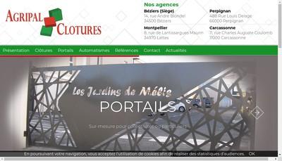 Site internet de Agripal Clotures