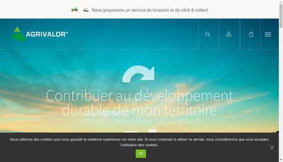 Site internet de Agrivalor Bergheim
