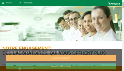 Site internet de Agrolab France