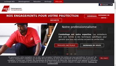 Site internet de AGS Martinique