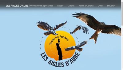 Site internet de Les Aigles d'Aure Volerie des Pyrenees