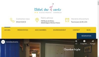 Site internet de H Tel des Quatre Vents