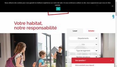 Site internet de SA d'Hlm Aiguillon Construction