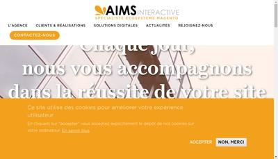 Site internet de Aims Interactive