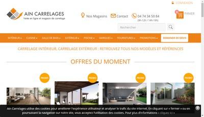 Site internet de Ain Carrelages