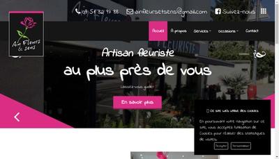 Site internet de Ain Fleurs et Sens