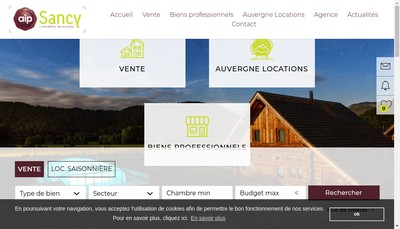 Site internet de Aip Sancy - Arvernha Resorts