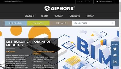 Site internet de Aiphone